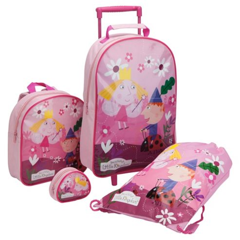 Ben & Holly's Little Kingdom 4-Piece Kids' Luggage Set