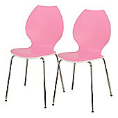 Candy Pair Of Chairs White / Pink