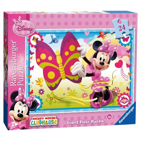 Disney Minnie Mouse 24 Piece Giant Floor Jigsaw Puzzle- Assortment – Colours & Styles May Vary