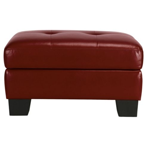 Utah Storage Footstool, Red