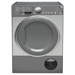 Hotpoint TCAL83CG Condenser Tumble Dryer, 8kg Load, C Energy Rating. Graphite