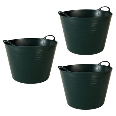 42L Flexi Tub 3 Pack, Green
