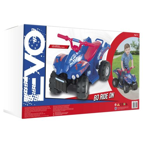 Evo ATV Quad Bike Electric Ride-On, Blue & Red