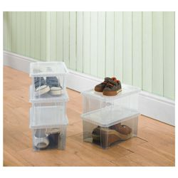 Shoe Storage box, 5 pack