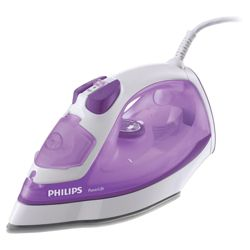 Philips GC2930/02 vertical steam feature Iron with Ceramic Plate - Purple/White