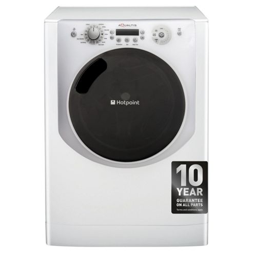 Hotpoint Aqualtis AQ113F497I Washing Machine, 11Kg Wash Load, 1400 RPM Spin, A++ Energy Rating, White