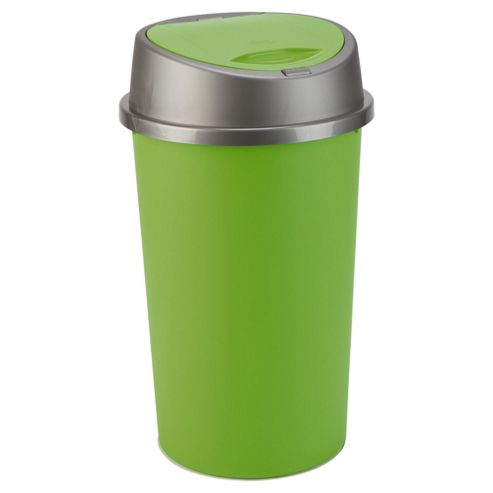 45L green touch top bin
