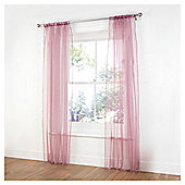 "Tesco Pair Voile Channel Top W137xL229cm (54x90""), Plum"