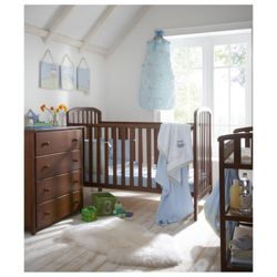 Kids Line La Jobi Nursery Furniture Room Set In A Box, Dark Walnut