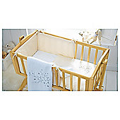 Clair de lune Stardust Crib Set, Cream