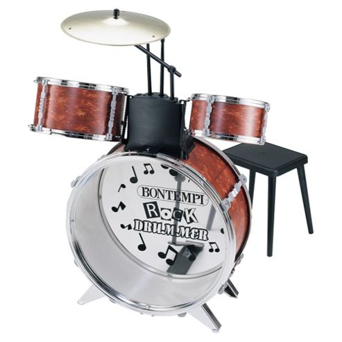 Bontempi JD4530 4 Piece Toy Drum Set & Stool