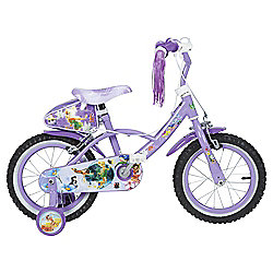 "Disney Fairies 14"" Kids' Bike with Stabilisers"