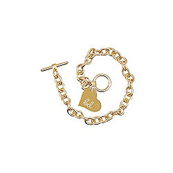 Children's Adjustable T Bar Bracelet - Gold Finish