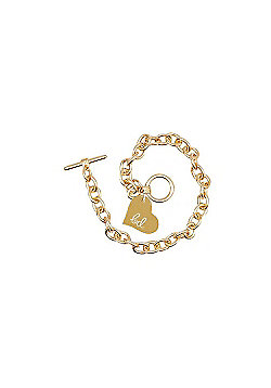 Children's Adjustable T Bar Bracelet - Gold Finish