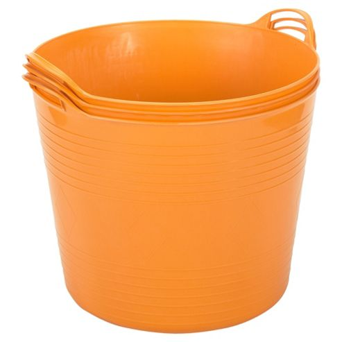 42L Flexi Tub 3 Pack, Orange