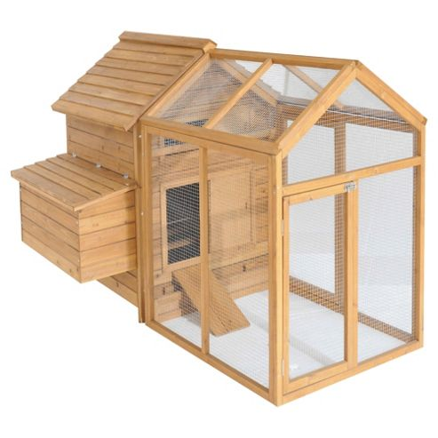 Chickenshack Chicken Coop with run - Light Brown
