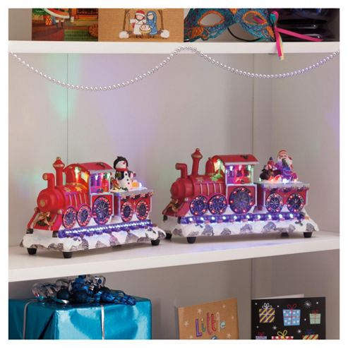 Festive Christmas Train Decoration With LED Lights