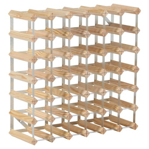 Ready To Assemble 42 Bottle Wine rack, Natural Pine