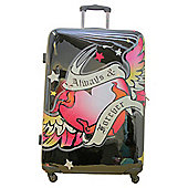 Pink Cookie Always & Forever 4-Wheel Hard Shell Suitcase, Large
