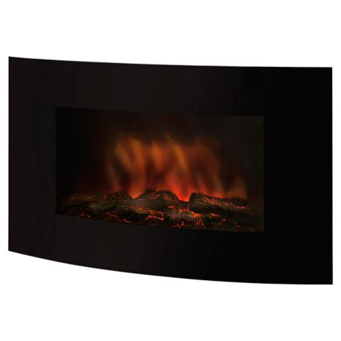 Pifco PE157 Wall Mount Glass Front Fire