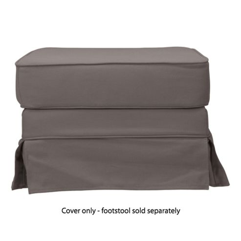 Louisa Loose Cover For Footstool, Charcoal