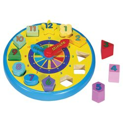 Melissa & Doug Shape Wooden Sorting Clock