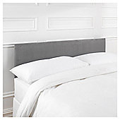 Mittal Single Faux Suede Headboard, Charcoal