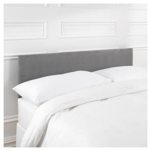 Seetall Mittal Headboard Charcoal Faux Suede Single