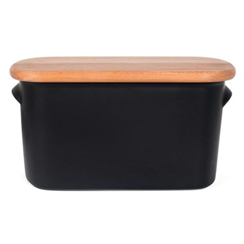Nigella Lawson Living Kitchen Bread Bin, Black
