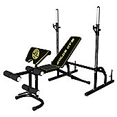 Golds Gym Deluxe Weight Bench with Squat Rack