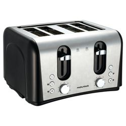 Morphy Richards 44372 4 Slice Toaster - Black stainless stee