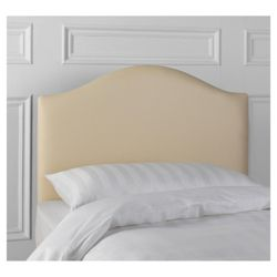 Laredo Single Faux Suede Headboard, Cream