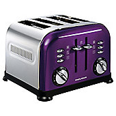 Morphy Richards 44737 Accents 4 Slice Toaster - Plum
