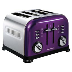 Morphy Richards 44737 4 Slice Toaster - Plum