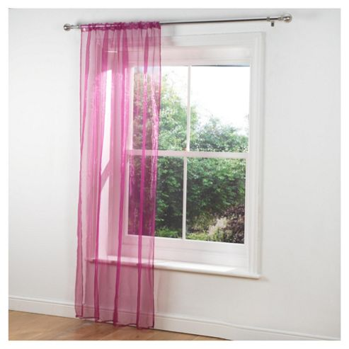 Tesco Voile Channel Top Curtains W137xL229cm (54x90