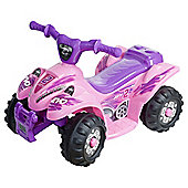 Evo ATV Quad Bike Electric Ride-On, Pink & Purple