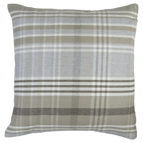 buy grey check cushion from our cushions range tesco. Black Bedroom Furniture Sets. Home Design Ideas