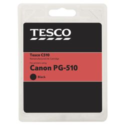Tesco C510 Black Printer Ink Cartridge (Compatible with printers using Canon PG-510 Black Printer Ink Cartridge)