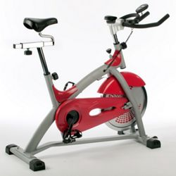 V-fit Aerobic Training Exercise Bike, Red