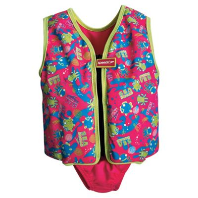 Speedo Sea Squad Swim Vest, 3-4 years, Pink