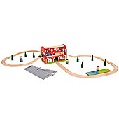 Bigjigs Rail BJT024 Railway Station Carry Set