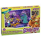 Scooby Doo Glow in the Dark Green Ghost 100 piece puzzle
