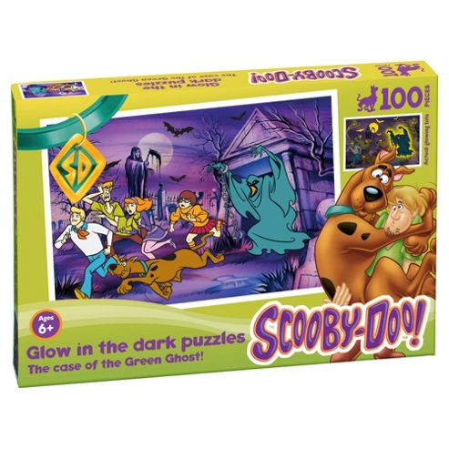 Scooby Doo Glow in the Dark Green Ghost 100-Piece Puzzle