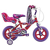 "Sonic Glitz 12"" Kids' Bike - with stabilisers"