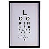 Framed Eye Chart