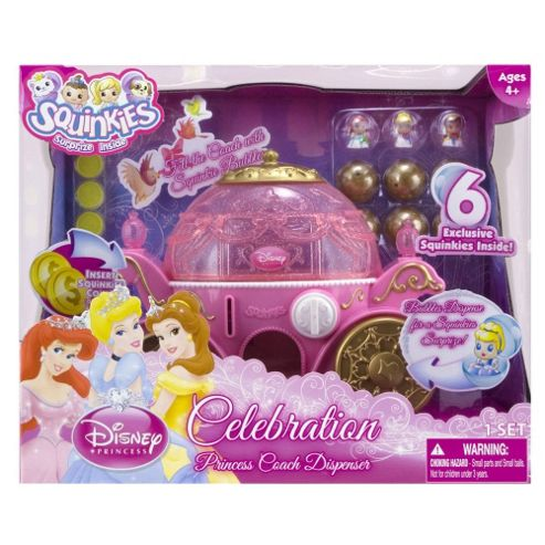 Disney Princess Squinkies Coach Dispenser