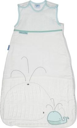 Grobag Baby Sleeping Bag, 0-6 Months, 2.5 Tog, Whale of a Time
