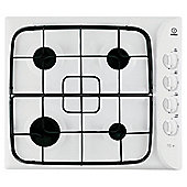 Indesit PIM640AS, White, Gas Hob, 60cm