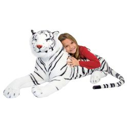 Melissa & Doug White Tiger Giant Soft Toy