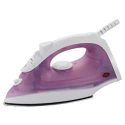 Tesco IR11 variable Steam Non-stick Iron - White/Pink
